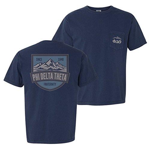 (Phi Delta Theta Navy Comfort Colors Mountain Tee)