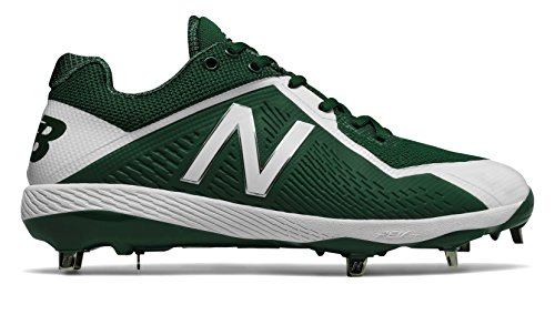 Green Nubuck (New Balance Men's L4040v4 Metal Baseball Shoe, Green/White, 8 D US)