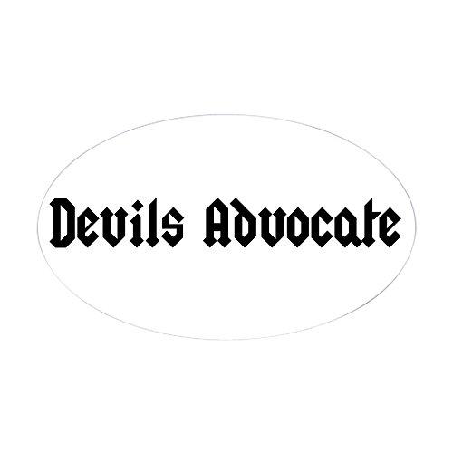 CafePress Devil's Advocate Sticker Oval Bumper Sticker, Euro Oval Car Decal