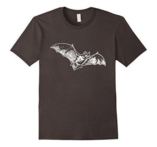 Mens Bat Tee Happy Halloween Costume T Shirt Scary Hunter Monster Medium Asphalt