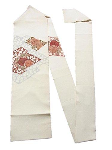 感謝祭扱う壁紙リサイクル 名古屋帯 松皮菱に辻が花の意匠 縮緬 正絹