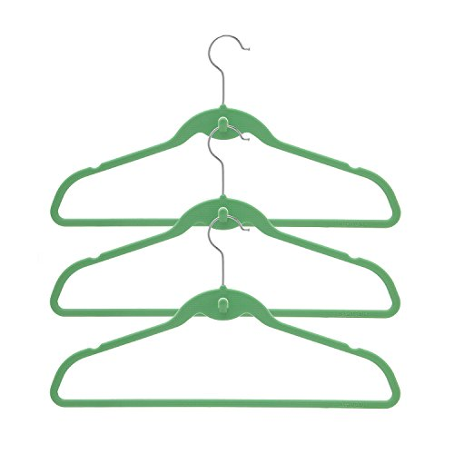 BriaUSA Cascade Hangers Green Steel Swivel Hooks -Slim, Sturdy Saves You Extra Space - Set of 10