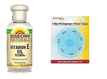 Puesta del sol vitamina E aceite de IU 70000, 2.5 fl oz con gratis 7
