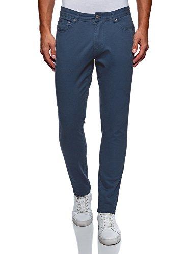 En 7500n Coton Fit Homme Ultra Oodji Pantalon Bleu Slim Yq8naX