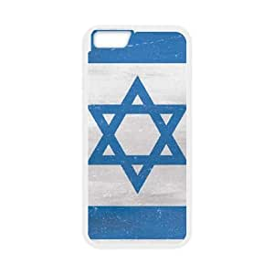 iPhone 6 Plus 5.5 Inch Cell Phone Case White Israel Flag Distressed N5F2MI
