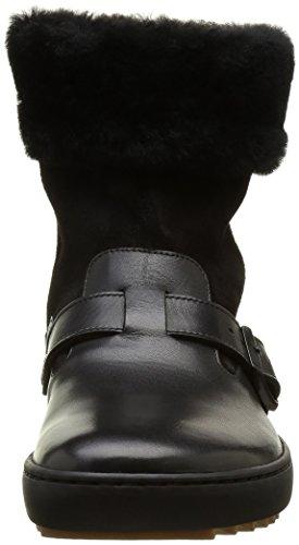 Birkenstock Stirling, Botas Efecto Arrugado para Mujer Negro (Black)