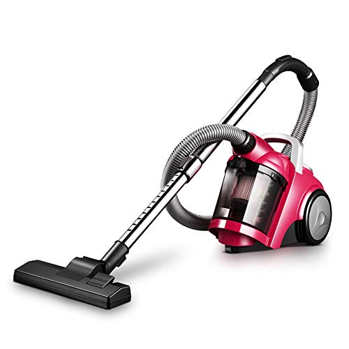 (TQZY Cylinder Vacuum Corded,1400 W High-Suction,Multiple Filter,4 Meter Cord, Suitable for Hard Floor and Carpet,Rose Red)