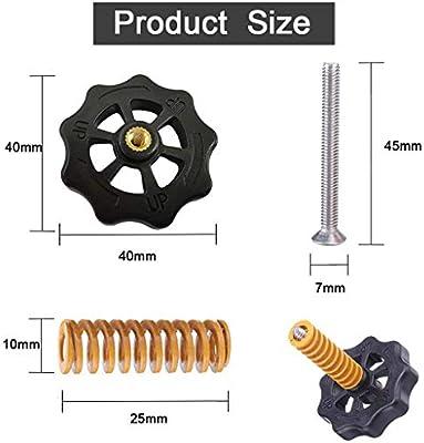 tuerca de nivelaci/ón de giro grande accesorios de impresora 3D de repuesto para Creality CR 10//10S Mini Ender 3 4 perillas de plataforma para cama caliente impresora 3D