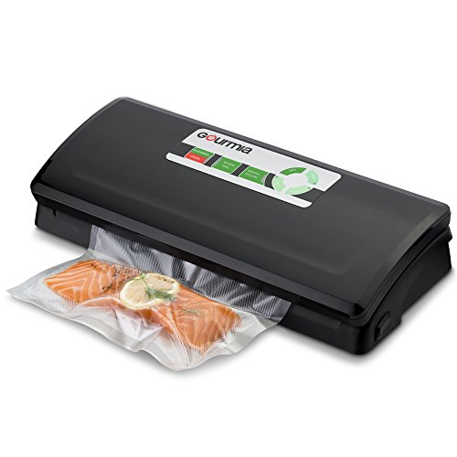 Gourmia GVS425 - Vacuum Sealer - 7 Function Customizable Vacuum Sealer - Preserve & Store or Vacuum for Sous Vide - Dry, Moist, Delicate or Soft Food - Includes Roll of Vacuum Bags