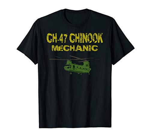 Chinook Helicopter Repairer T Shirt 15U MOS CH 47 Mechanic