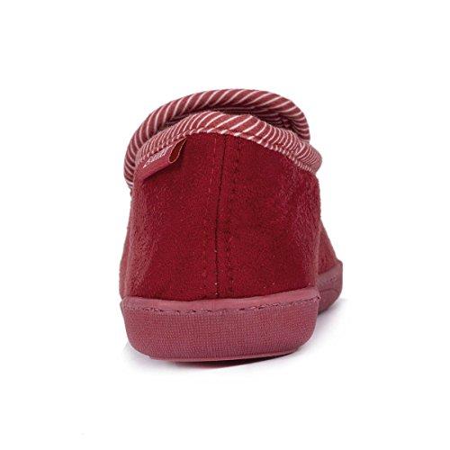 Pantuflas cerradas para mujer Isotoner Rojo