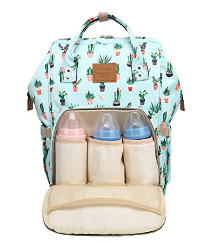 Print with Baby Wide Dad Large Changing Design Waterproof Print Foxes Travel Function Nappy Capacity Backpack Mom Bag Plants Baby Multi Open for qFw1naFT