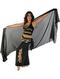 Belly Dancer Costume Set  Chiffon Harem Pants, Top, Veil & Hip Scarf   Festival Flair