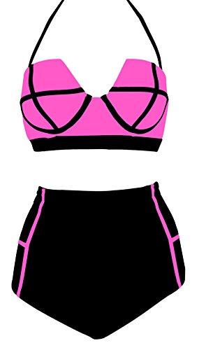 Women Bandage Bikini Set Push-up Padded Bra Swimwear - 3