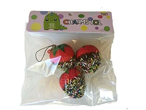 Strawberry Dipped In Chocolate Squishy 3 Pack