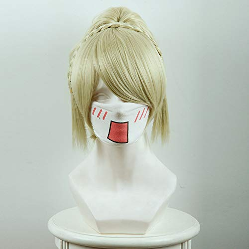 - final fantasy xv luna fredia light gold tigers clamp pony cosplay wigs Halloween