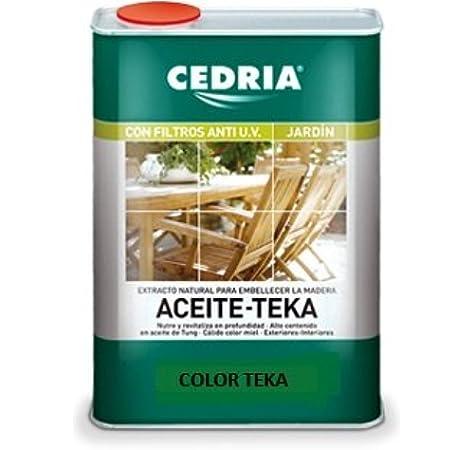 CEDRIA ACEITE PARA TEKA TECA 4L: Amazon.es: Bricolaje y herramientas
