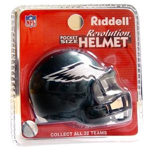 (Philadelphia Eagles Revolution Style Pocket Pro NFL Helmet by Riddell)