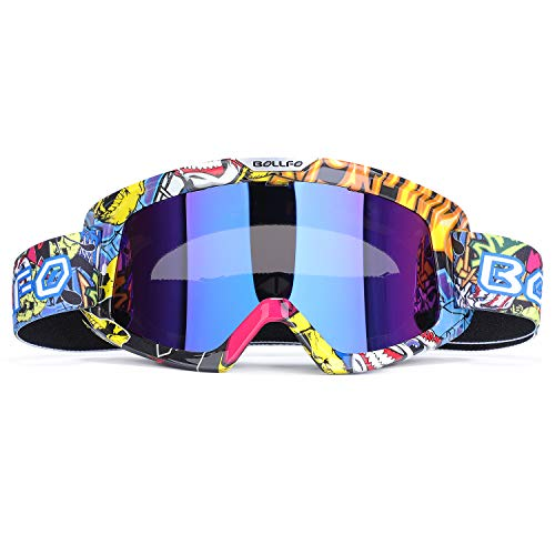 G4Free ATV Motocross Goggles Dirt Bike Motorcycle Goggles for Adult Kids,off Road Racing Cycling Riding Motorbike Goggles over Glasses UV Protection Dustproof Windproof Anti-Scratch Protective - Helmet Kids Motorbike