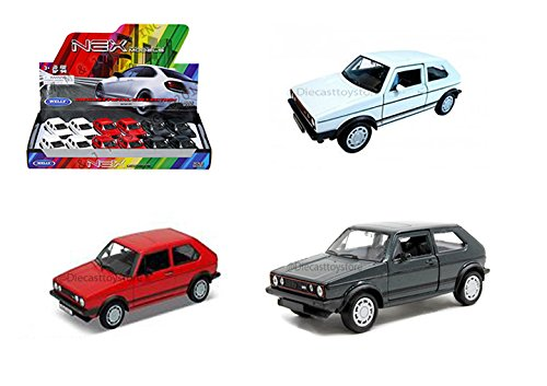 DISPLAY - VOLKSWAGEN GOLF I GTI 3PCS 43681D DIECAST BY WELLY NO RETAIL BOX