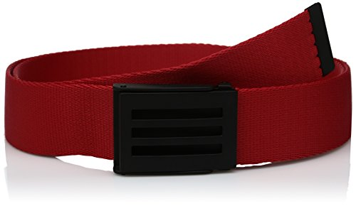adidas Golf Men's Webbing Belt, Scarlet, One Size (Webbing Stripe Belt)