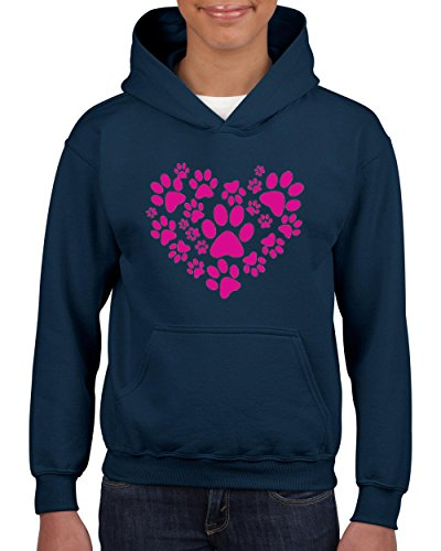 Price comparison product image Big Heart w Little Paws Love Pets Dogs Cats Cat Lovers Birthday Christmas Youth Hoodies Sweater