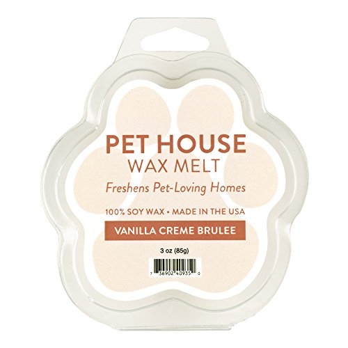 Pet House Wax Melts in 15 Fragrances - 2 Pack - Natural Soy Wax - Pet Odor Eliminating - Long-lasting - Paraffin/Dye-Free - Non-Toxic - Vanilla Creme Brulee