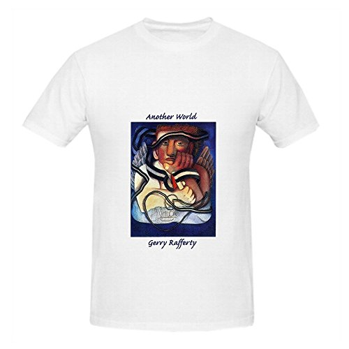 Gerry Rafferty Another World Tour Greatest Hits Mens Crew Neck Graphic Shirts - Hipster Fasion