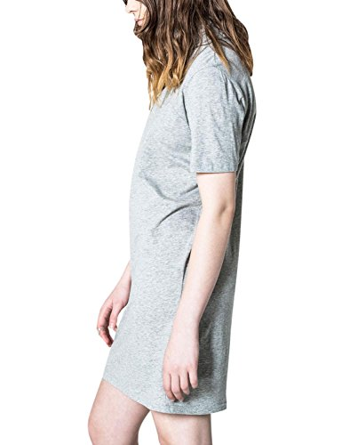 Cheap Monday Women's Seek Dress Women's Turtle Neck Dress In Grey 100% Cotton Grey