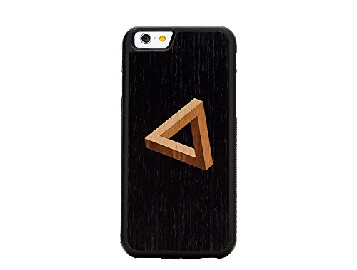Wood Traveler Case (Carved Penrose Triangle Inlay iPhone 6/6s Traveler Wood)