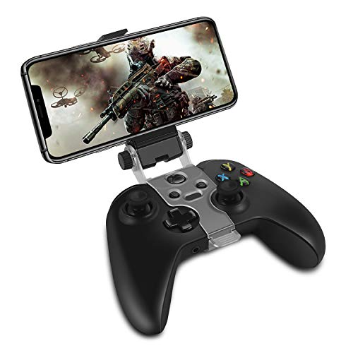 TNP Phone Clip Holder Compatible with Xbox One S X Wireless Controller, Foldable Clamp Mount for iPhone 11 Pro Max, 11 Pro, 11, Xs Max, Xs, X, 8 Plus, 7, Android Phone Samsung LG [Xbox Accessories]