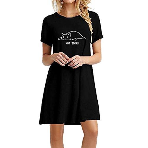 - Women's Summer Boho Polka Dot Sleeveless V Neck Swing Long Dress Black