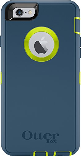 Rugged Protection OtterBox DEFENDER Case for iPhone 6, 6s (NOT Plus) Case Only - Holster Not Included - (Citron Green/Blue)
