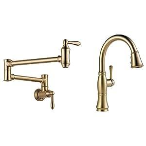 Delta Faucets Victorian Pot Filler Wall Faucet + Cassidy