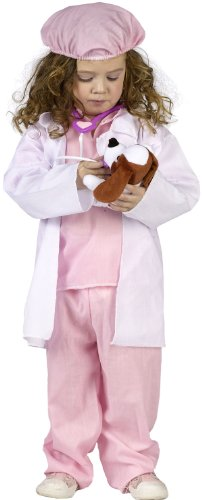 [Fun World Costumes Baby's Little Pet Vet Toddler Costume, Pink/White, Large] (Doctor Costumes For Toddlers)