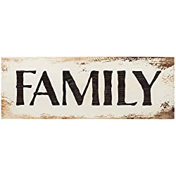 P. Graham Dunn Family Bold White Wash 16 x 6 Inch Solid Pine Wood Plank Wall Plaque Sign