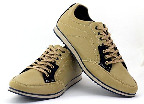 Homme Chaussures En Toile Casual Marche Dentelle Chaussure De Course Ru 6 7 8 9 10 11 - Brun / Marine, 7 Uk / 41 Eu