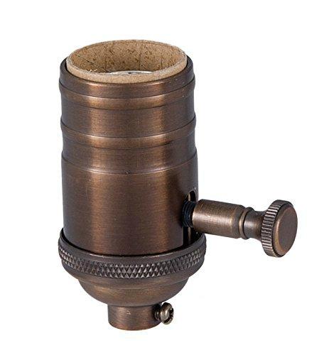 BulbsCo Edison Lamp Full Size Dimmer Socket in Bronze Finish