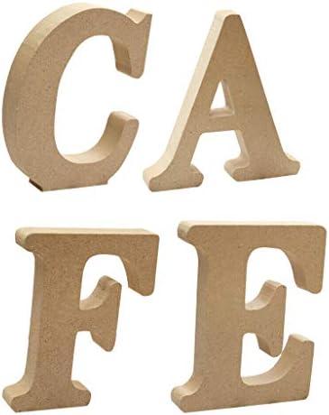COMFORT INNOVATION Wooden Alphabet Craft Cafe Letter Plaque Wall Hanging Wedding Decor / COMFORT INNOVATION Wooden Alphabet Craft Cafe Letter Plaque Wall Hanging Wedding Decor