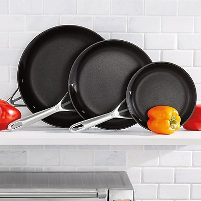 Henkels Motion Nonstick Hard Anodized 3-Piece Fry Pan Set by Zwilling J.A