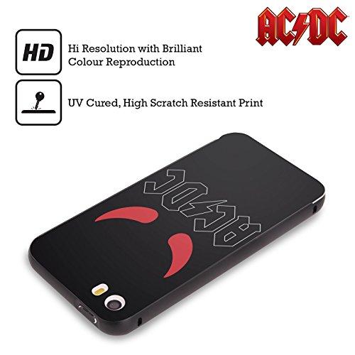 Officiel AC/DC ACDC Klaxons Logo Noir Étui Coque Aluminium Bumper Slider pour Apple iPhone 5 / 5s / SE