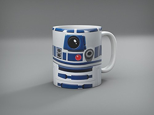 11 Oz Sculpted Ceramic Mug - Miracle(Tm) Designs Sculpted Ceramic Mug in Shape of Classic R2D2, Star Wars Collectible