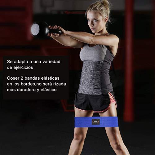 Bandas Elasticas Fitness Glúteos Bandas de Resistencia de la Cadera Bandas Antideslizantes de Ejercicios Piernas