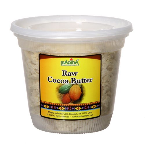 RAW Cocoa Butter 1 Lb by madina (Homemade Foot Scrub For Dry Cracked Feet)