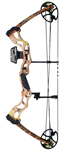 Leader Accessories Compound Bow Hunting Bow 50-70lbs with Max Speed 310fps, Autumn Camo