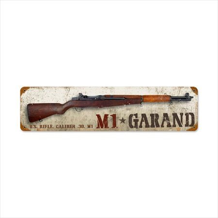 Past Time Signs HA011 M1 Garand Allied Military Vintage Metal Sign from Past Time Signs