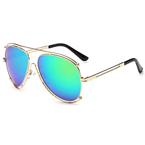 Sinkfish SG80030 Sunglasses for Women,Anti-UV & Fashion Oval Reflector - UV400 (Aqua) (Sale Oakley For Sunglasses)