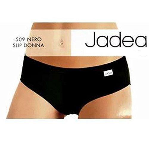 JADEA Slip Donna Nero - Confezione da 3 Slip in Cotone - Art.509