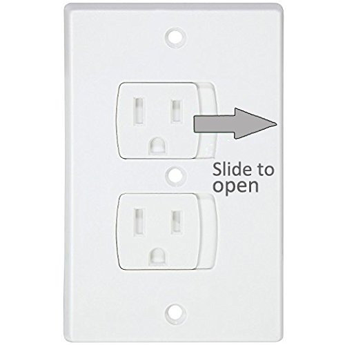 Electrical Outlet Covers Universal Self-Closing Outlet Plugs,Child Safety Guards Socket Plugs Protector,BPA Free,4 Pack, Hardware Included by MooMoo Baby (Image #3)