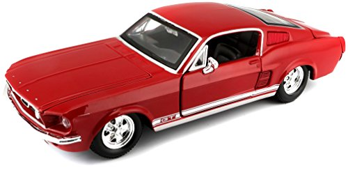 Maisto 1:24 Scale 1967 Ford Mustang GT Diecast Vehicle (Colors May Vary) (1967 Ford Trucks)